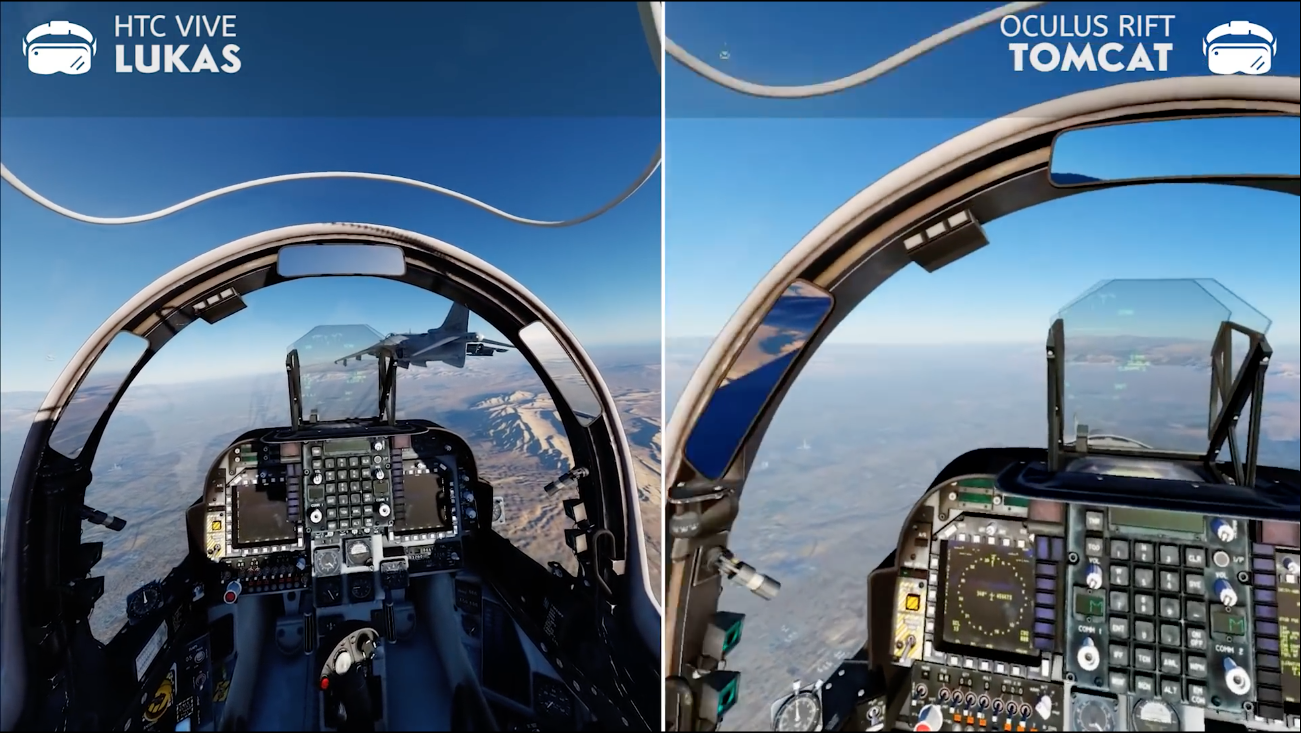 DCS: Dual VR (Rift + Vive) | In-flight refueling and formation fire