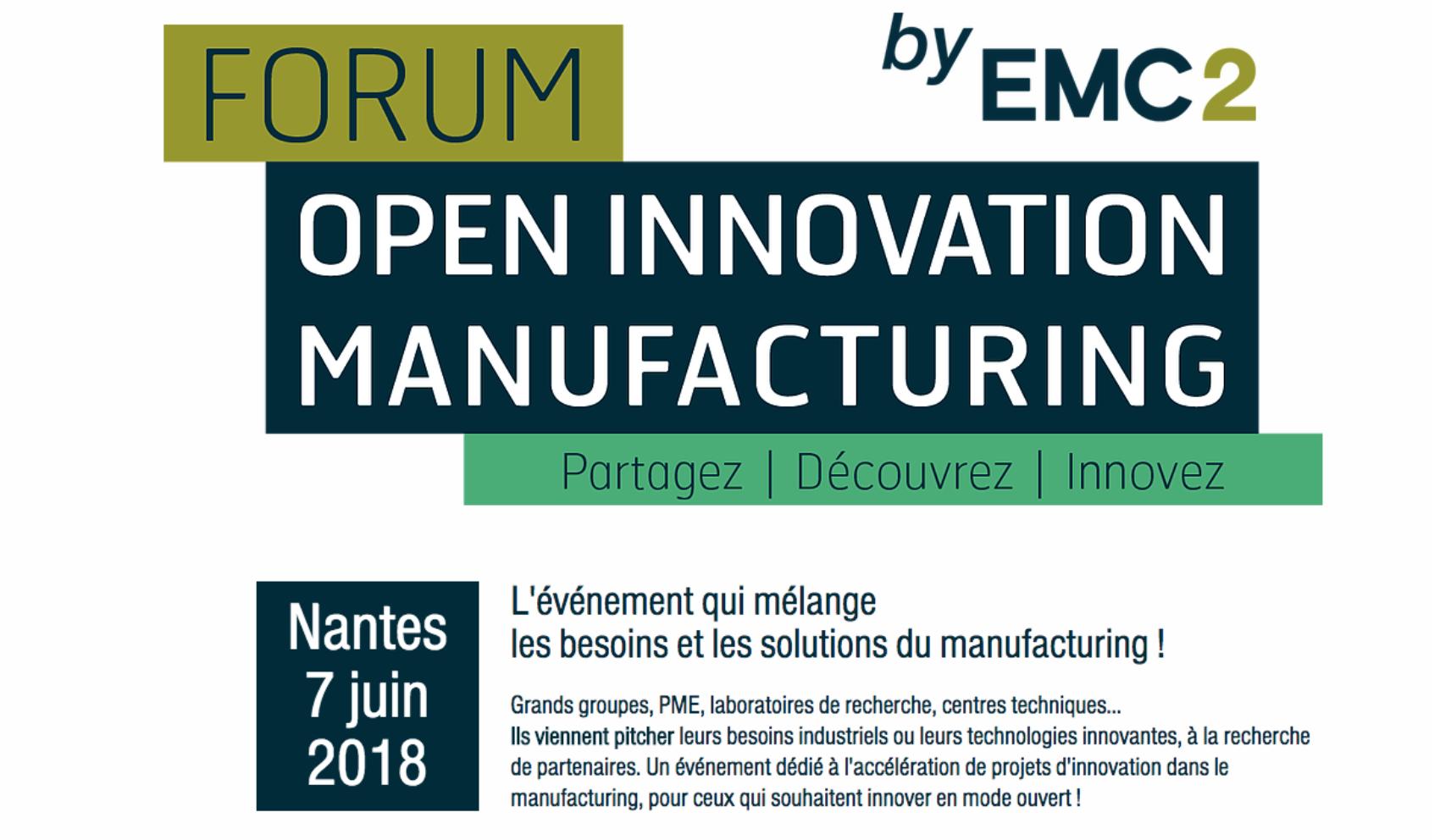 Forum open innnovation manufacturing